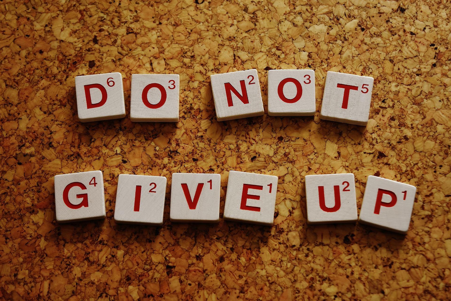 筋トレやダイエットが続かないひとへ「DO NOT GIVE UP」のメッセージ