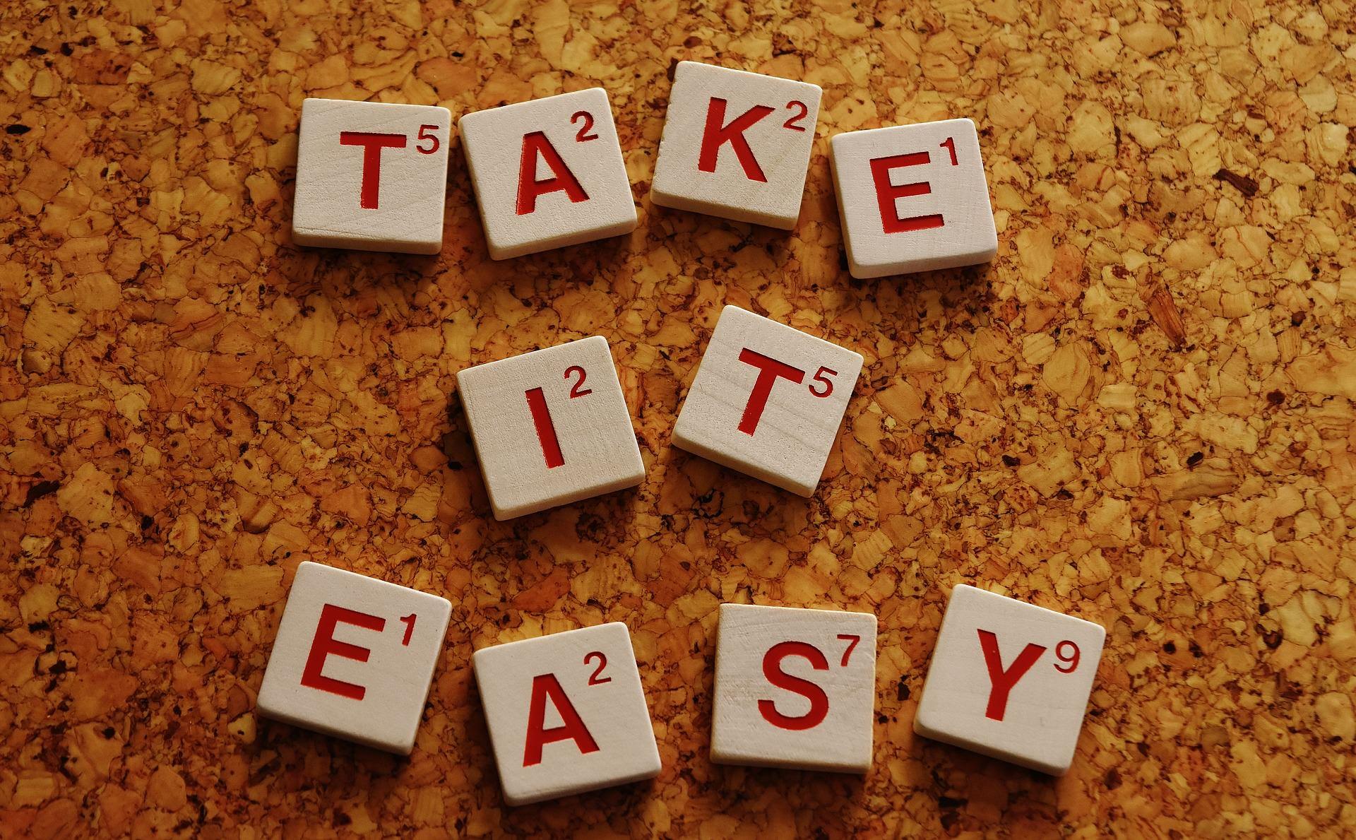 モチベーションが維持できない人へ「TAKE IT EASY」のメッセージ画像
