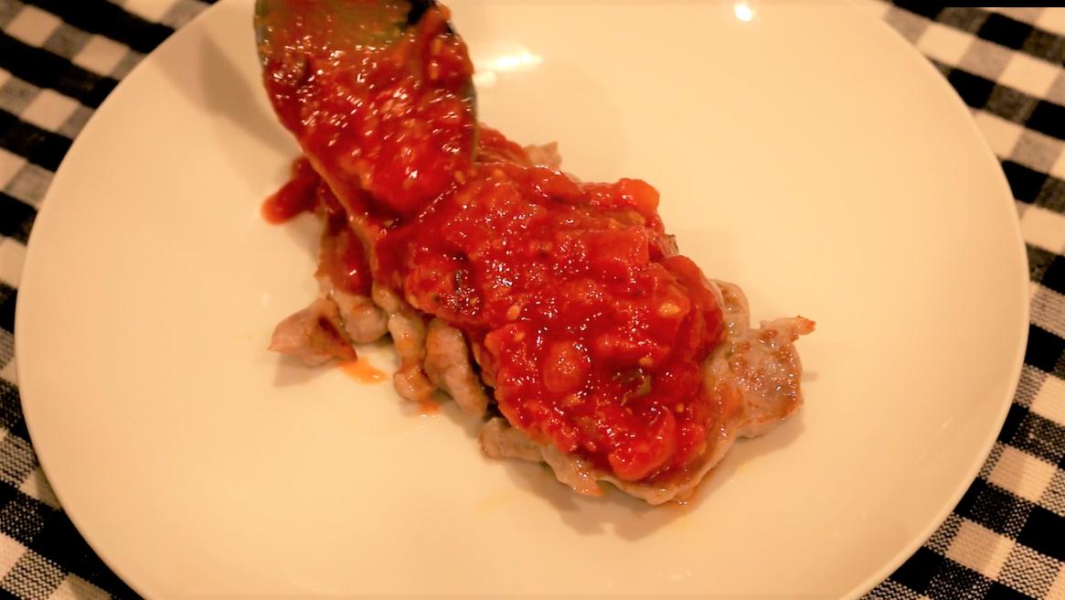 豚ヒレ肉のケッパートマトソースステーキ まとめ用